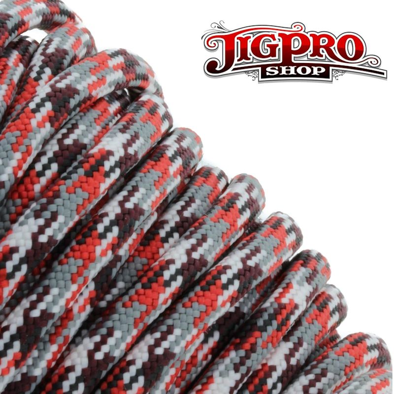 Red Camo 550# Type III Paracord 100' C05