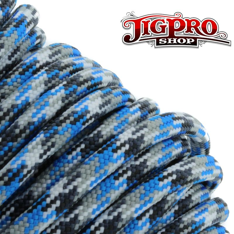 Blue Camo 550# Type III Paracord 100' C06