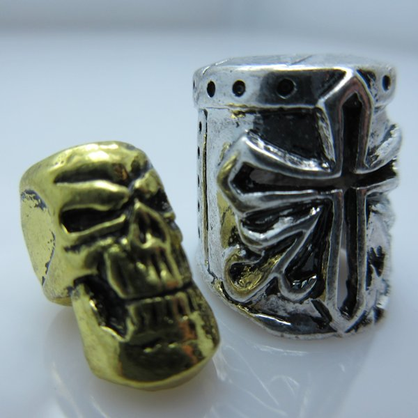 Crusader Helmet & Skull Silver/Gold By Bad Azz Beads