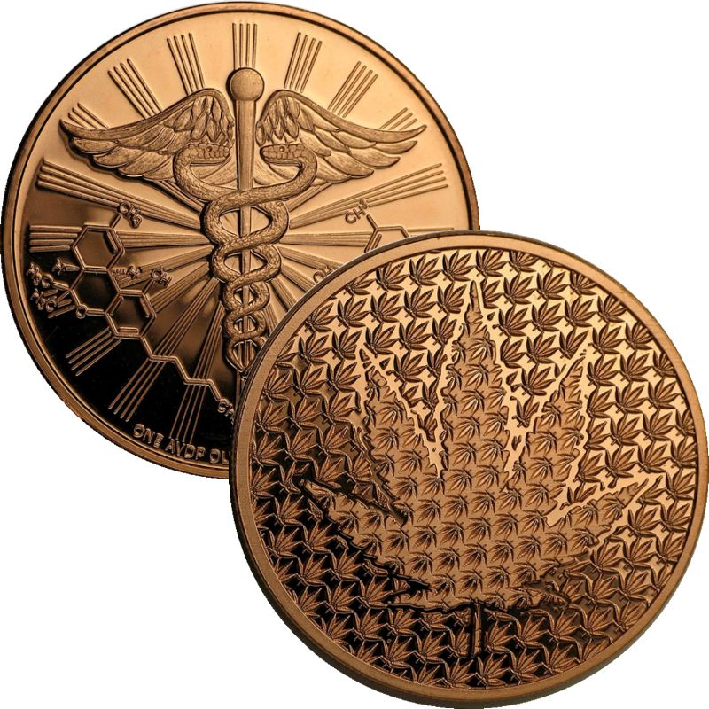 Cannabis (Forever) 1 oz .999 Pure Copper Round