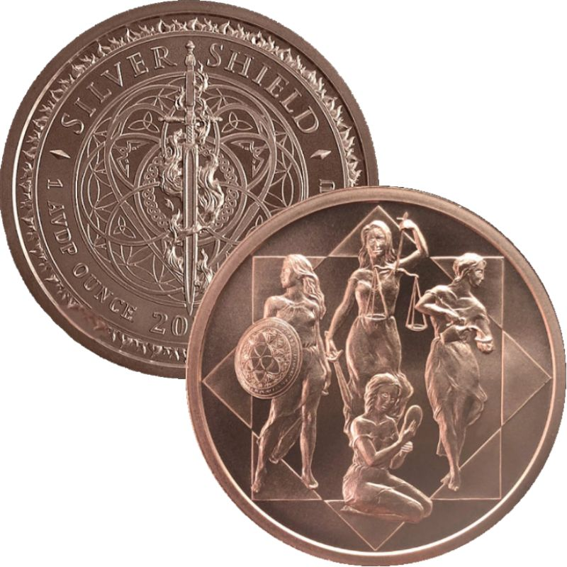 Cardinal Virtues #153 (2020 Silver Shield - Mini Mintage) 1 oz .999 Pure Copper Round