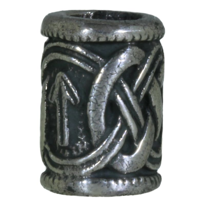 Celtic Pattern Bead in Nickel Silver by Russki Designs