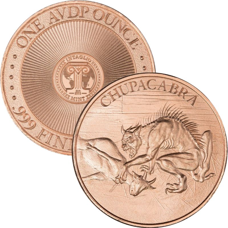 Chupacabra 1 oz .999 Pure Copper Round