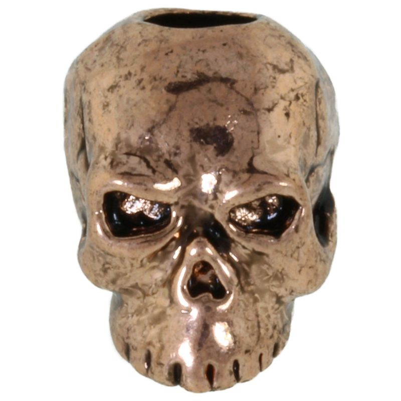 Classic Skull Bead in Antique Copper Finish by Schmuckatelli Co.