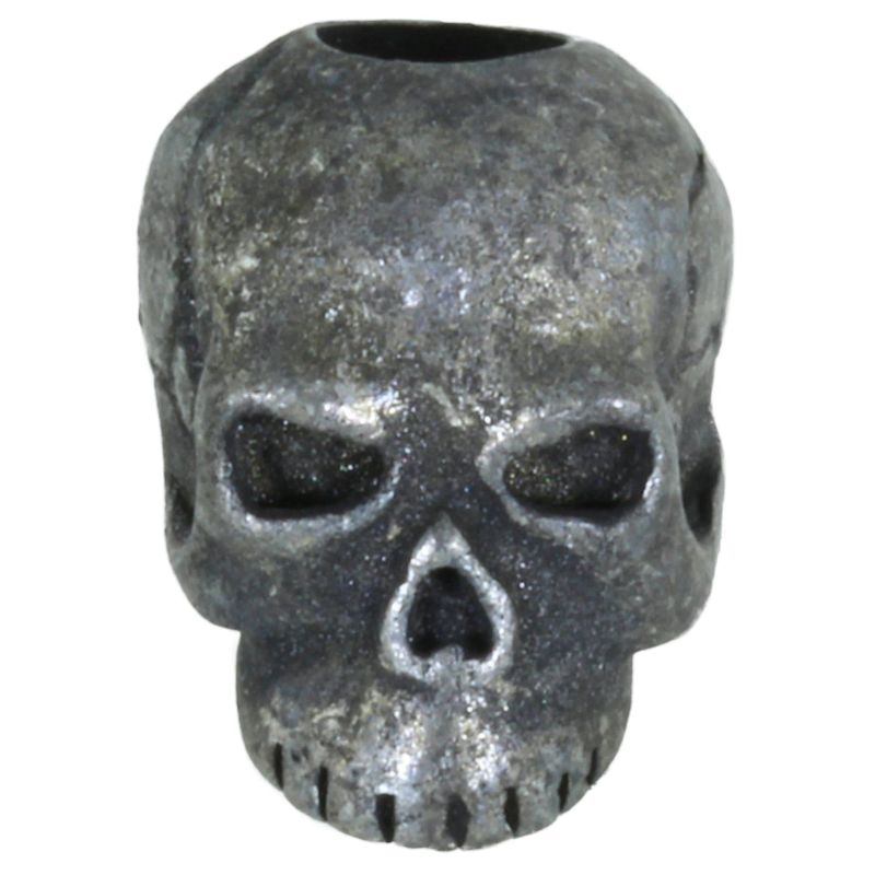 Classic Skull Bead in Black Oxide Finish by Schmuckatelli Co.