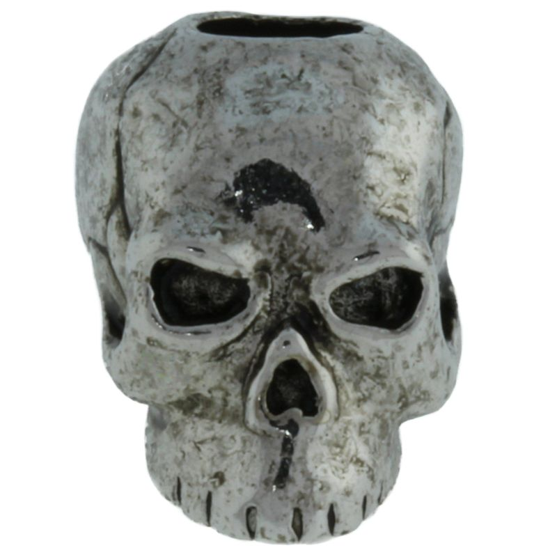 Classic Skull Bead in Antique Rhodium Finish by Schmuckatelli Co.