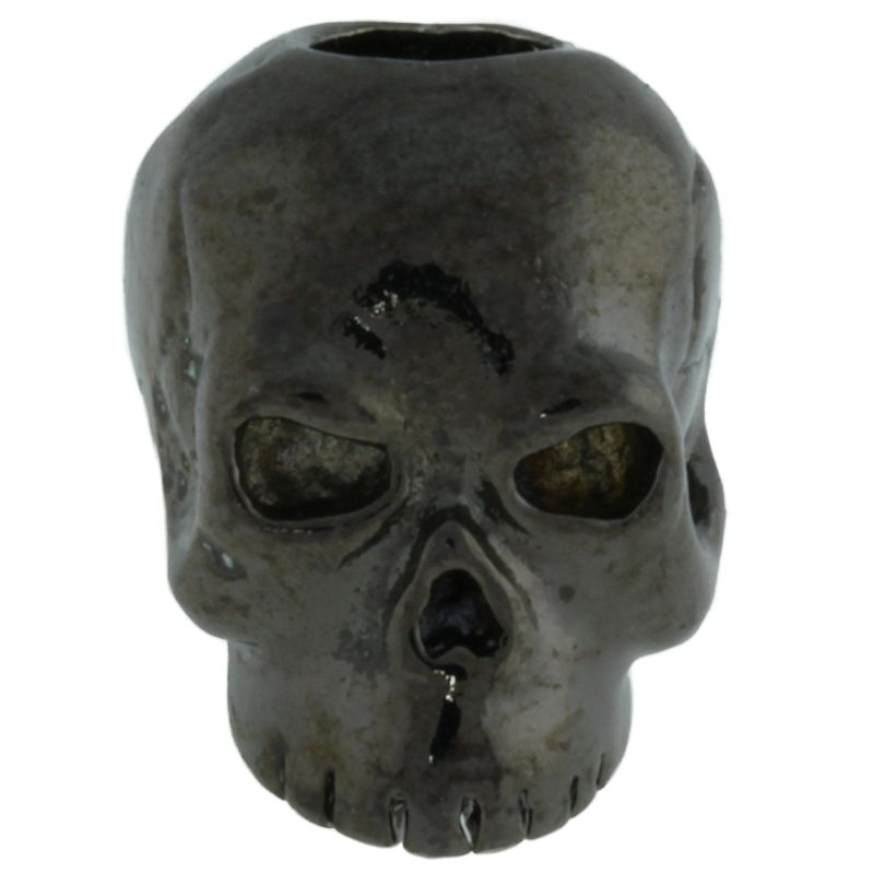 Classic Skull Bead in Hematite Finish by Schmuckatelli Co.