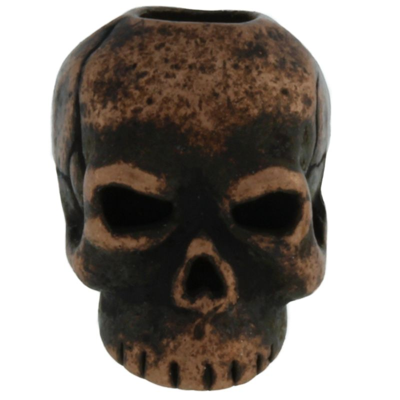 Classic Skull Bead in Roman Copper Oxide Finish by Schmuckatelli Co.