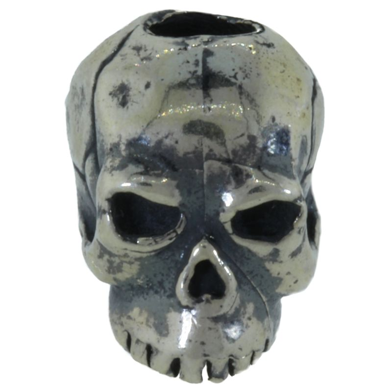 Classic Skull Bead in Solid .925 Sterling Silver by Schmuckatelli Co.