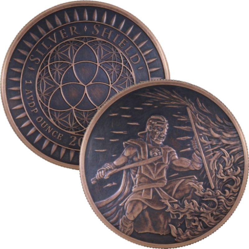 TEL  1 oz IN Q Copper Round  2019  MINI MINTAGE   #111   Silver Shield