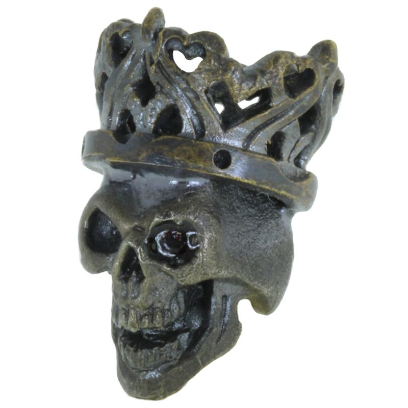 Cursed King in Brass/White Brass w/Black Onyx Eye (Black Patina) by Covenant Everyday Gear