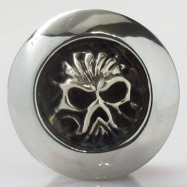 Cursed Soul Cord Button in White Brass by Covenant Everyday Gear
