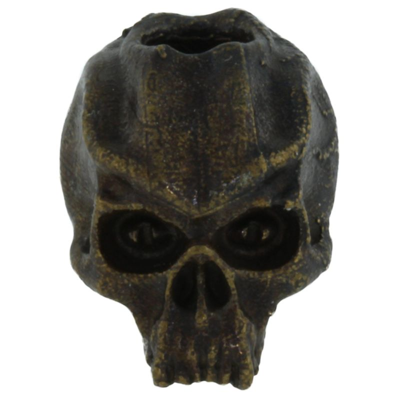 Cyber Skull Bead in Solid Oil Rubbed Bronze by Schmuckatelli Co.