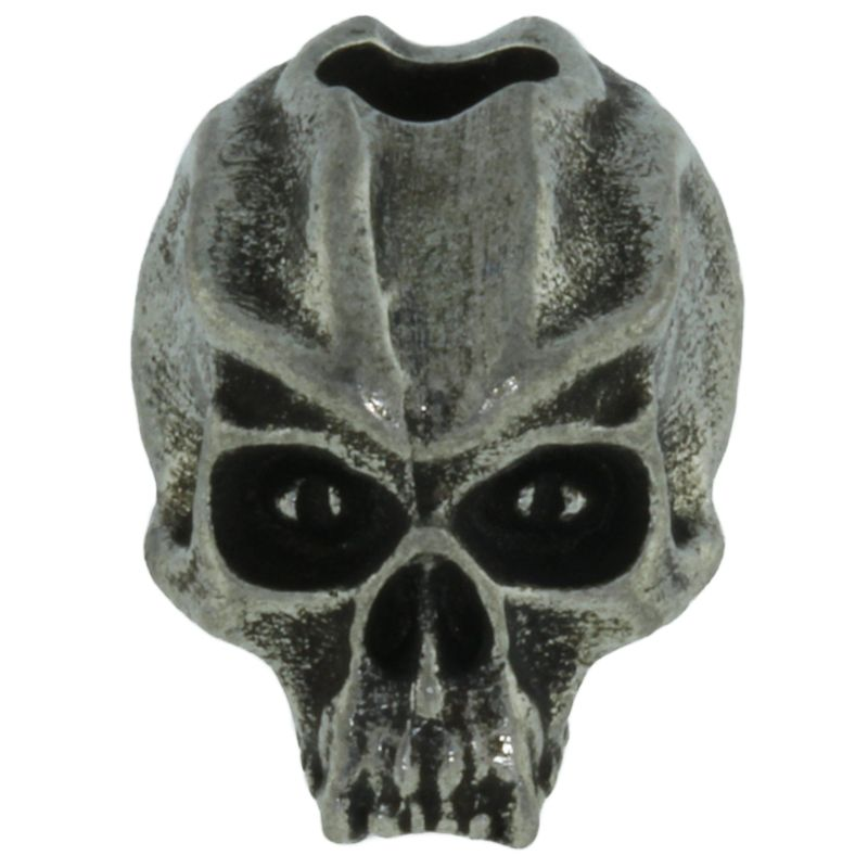 Cyber Skull Bead in Pewter by Schmuckatelli Co.