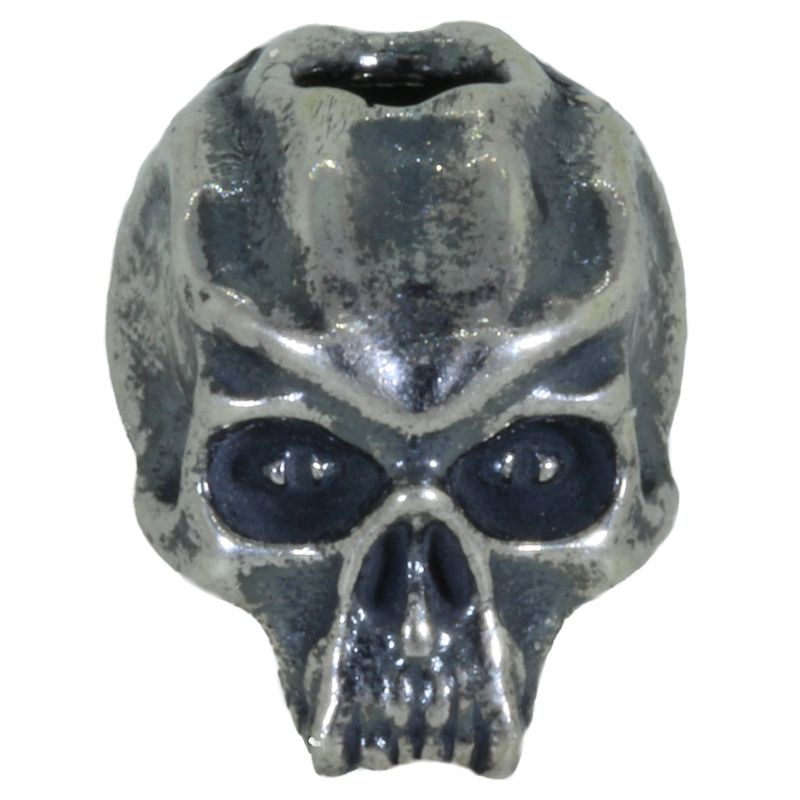 Cyber Skull Bead in Solid .925 Sterling Silver by Schmuckatelli Co.