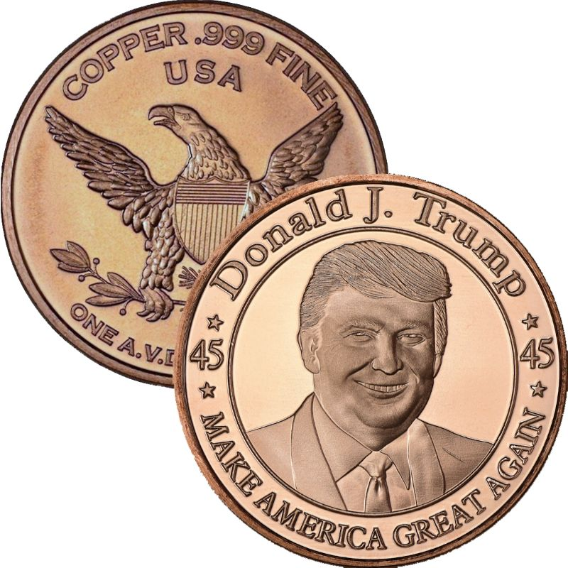 Donald J. Trump - Make America Great Again 1 oz .999 Pure Copper Round