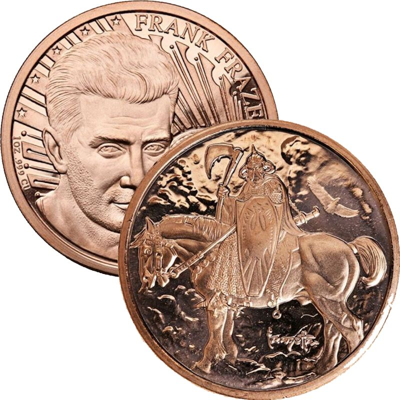 Death Dealer 1 oz .999 Pure Copper Round
