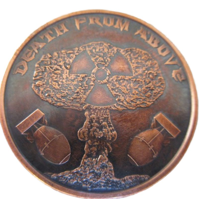Death From Above 1 oz .999 Pure Copper Round (Black Patina)