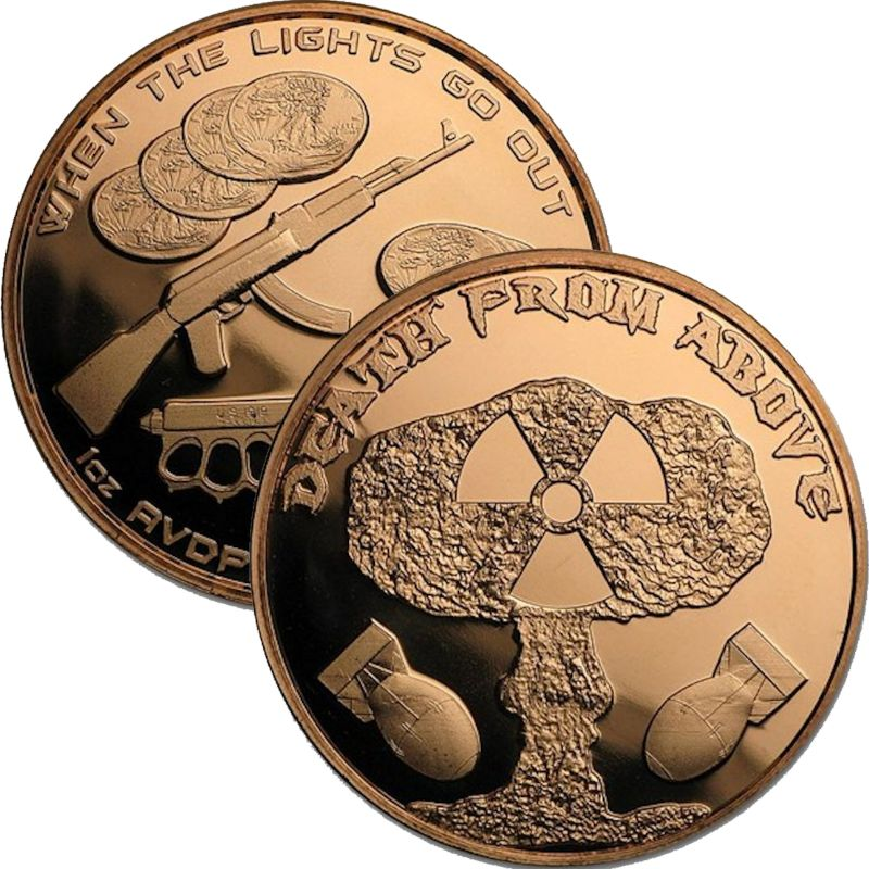 Death From Above 1 oz .999 Pure Copper Round