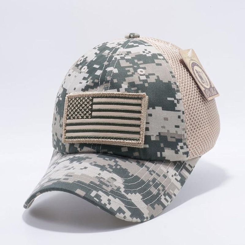 Digital Camo American Flag Velcro Patch Hat