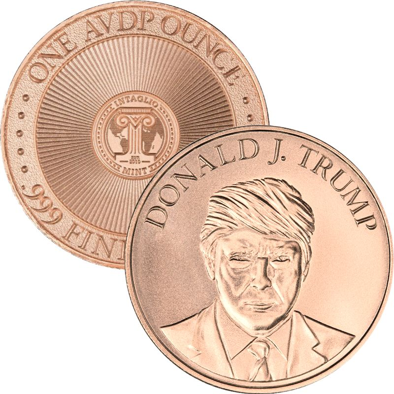 President Donald J. Trump ~ Presidential (Original Reverse) 1 oz .999 Pure Copper Round
