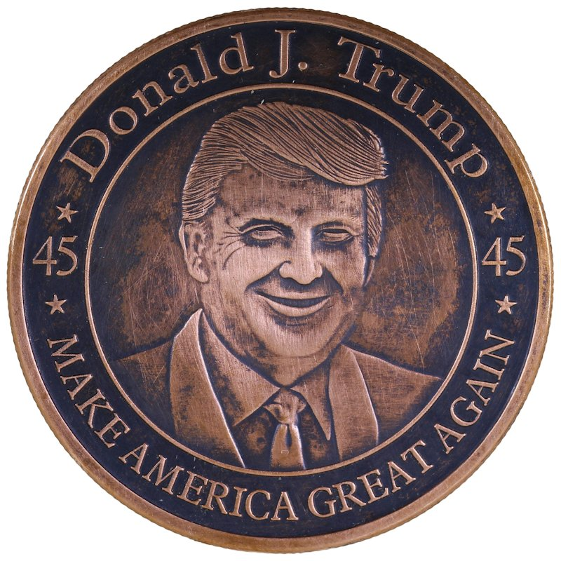 Donald J. Trump - Make America Great Again 1 oz .999 Pure Copper Round (Black Patina)