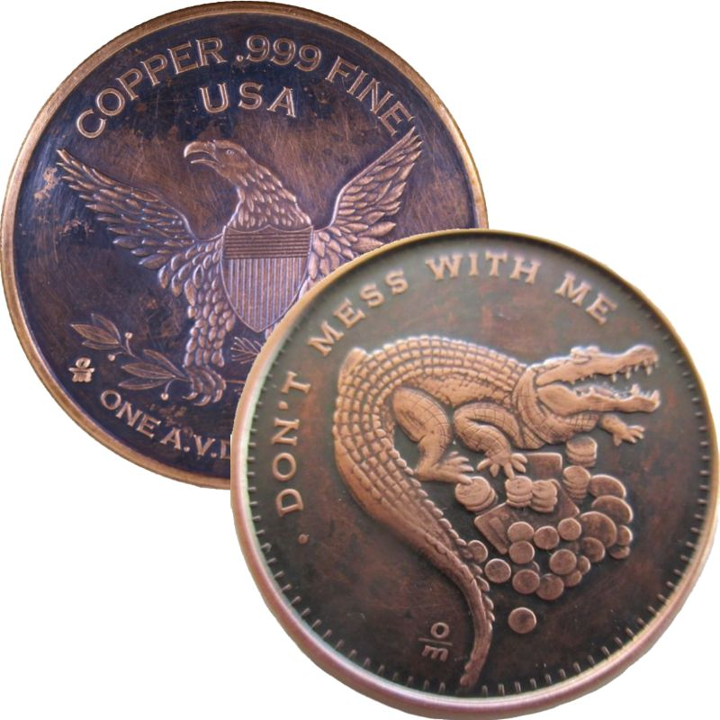 Don't Mess With Me 1 oz .999 Pure Copper Round (Black Patina)