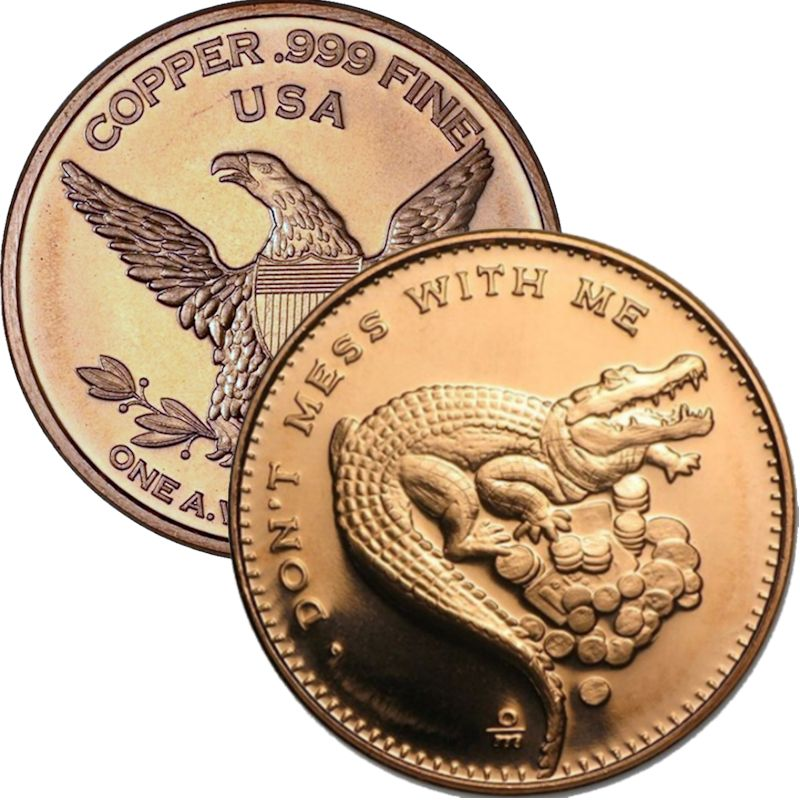 Don't Mess With Me 1 oz .999 Pure Copper Round