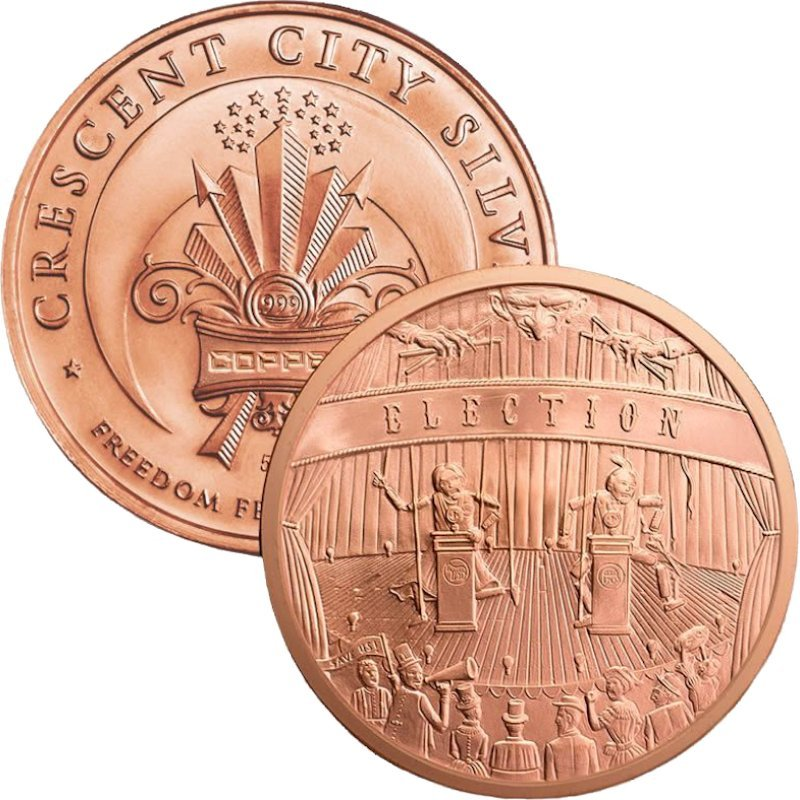 Election Design 5 oz .999 Pure Copper Round
