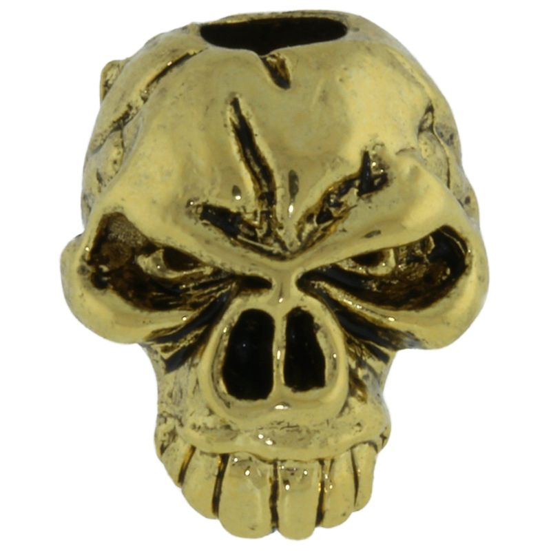 Emerson Skull Bead in 18K Antique Gold Finish by Schmuckatelli Co.