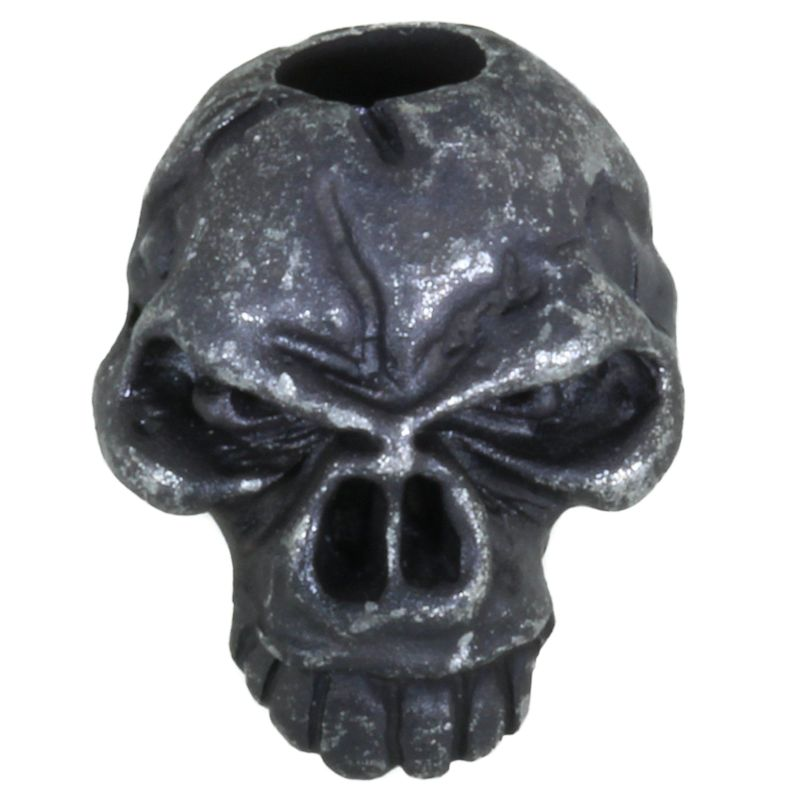 Emerson Skull Bead in Black Oxide Finish by Schmuckatelli Co.