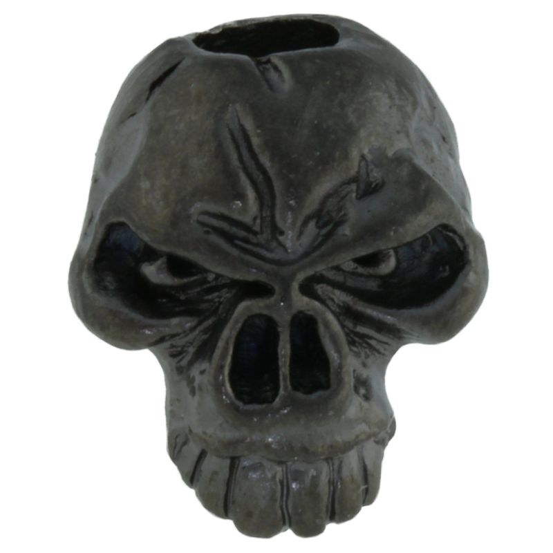 Emerson Skull Bead in Hematite Matte Finish by Schmuckatelli Co.