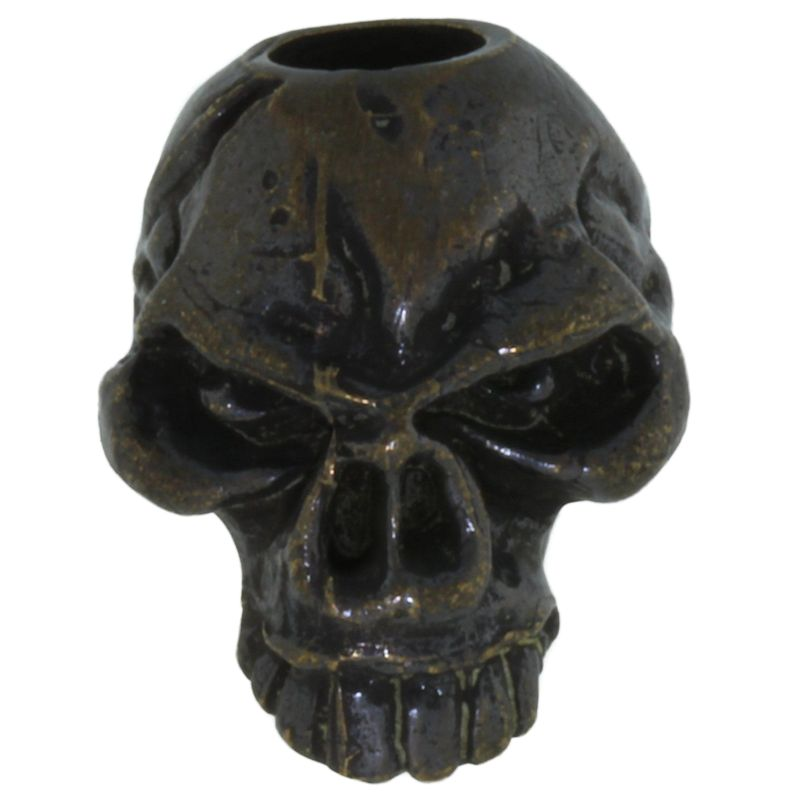 Emerson Skull Bead in Solid Oil Rubbed Bronze by Schmuckatelli Co.