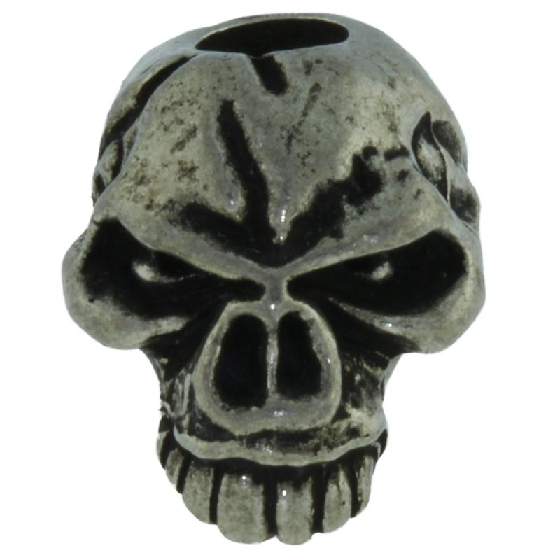 Emerson Skull Bead in Pewter by Schmuckatelli Co.