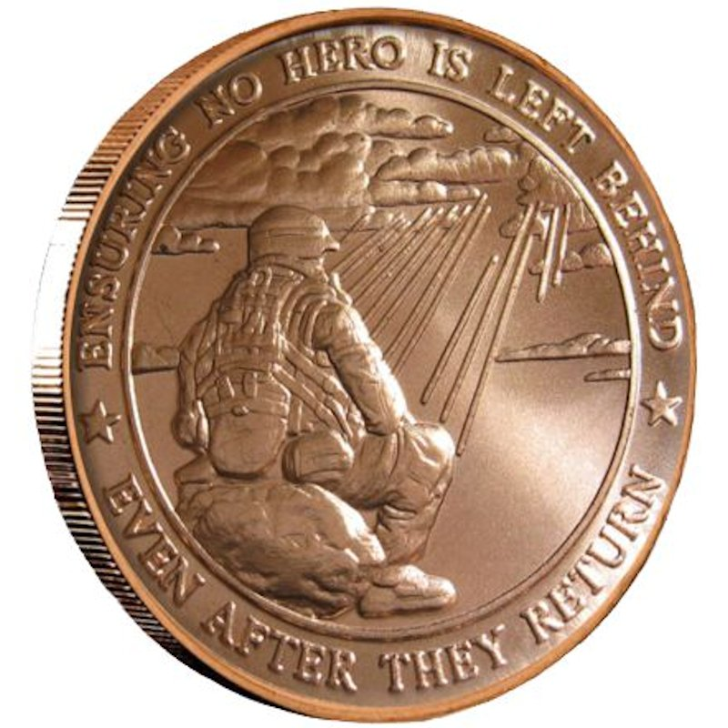 Ensuring No Hero Is Left Behind 1 oz .999 Pure Copper Round