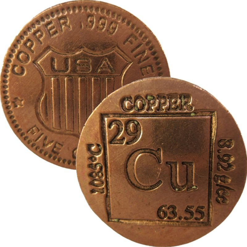 5 oz. Thick Copper Round Bars from .999 Pure Copper