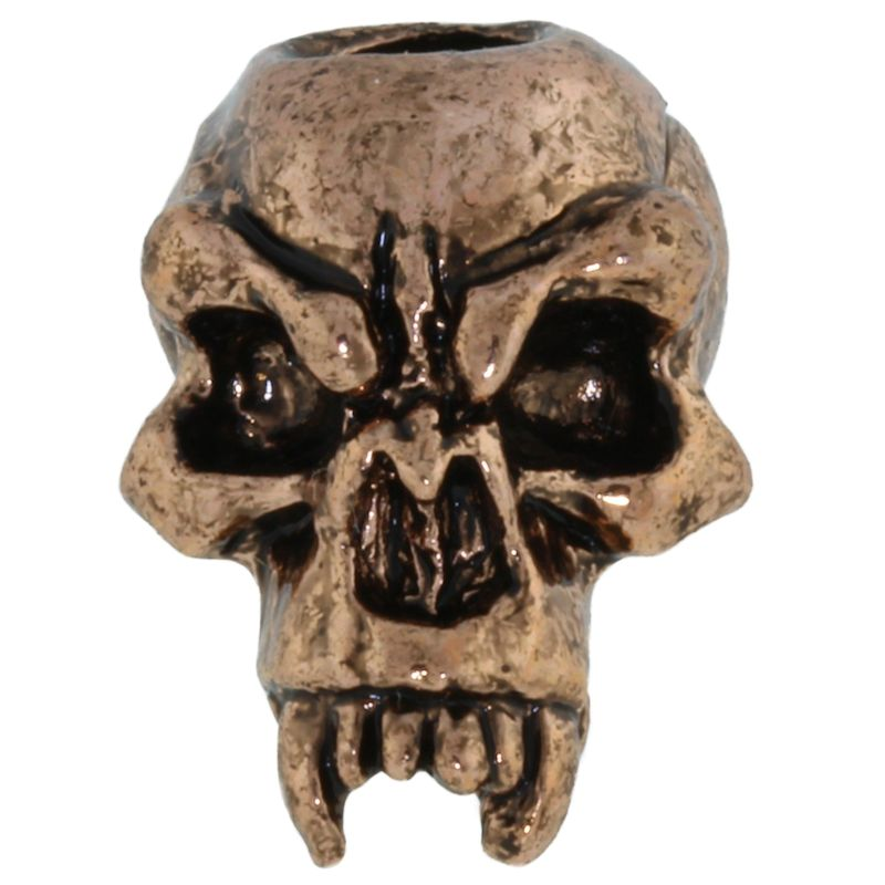 Fang Skull Bead in Antique Copper Finish by Schmuckatelli Co.