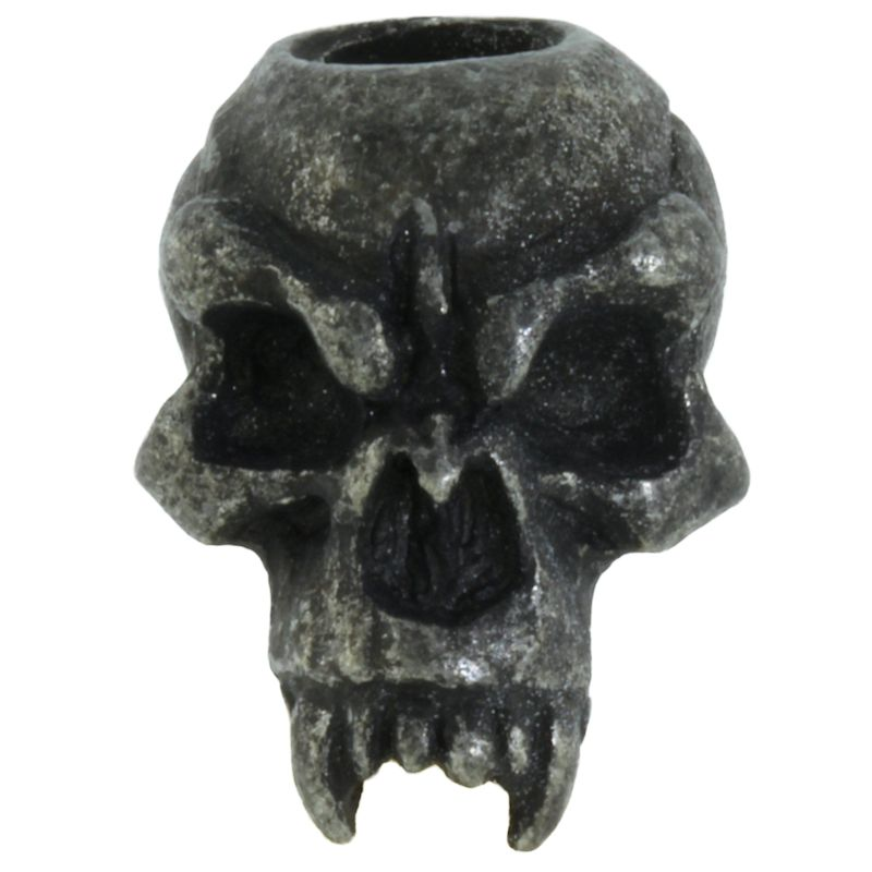 Fang Skull Bead in Black Oxide Finish by Schmuckatelli Co.