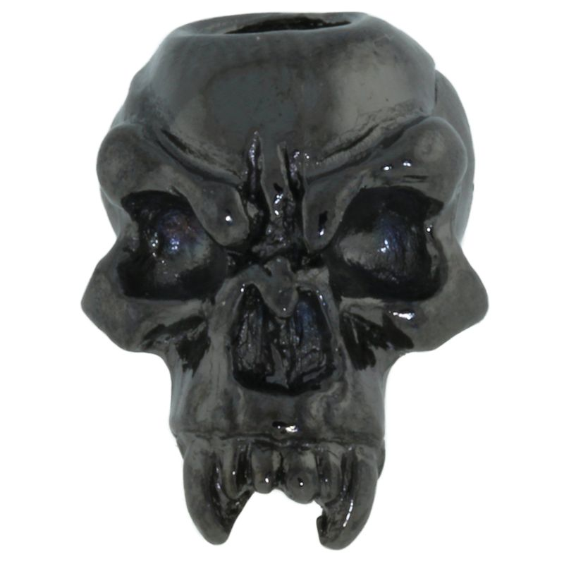 Fang Skull Bead in Hematite Finish by Schmuckatelli Co.