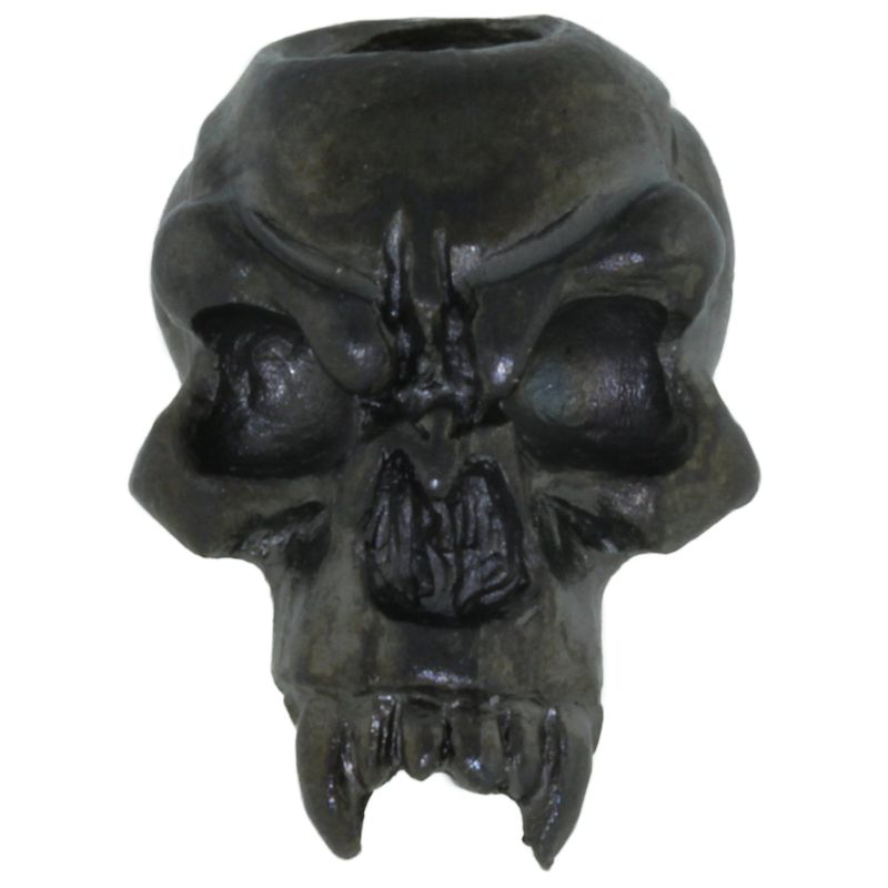 Fang Skull Bead in Hematite Matte Finish by Schmuckatelli Co.