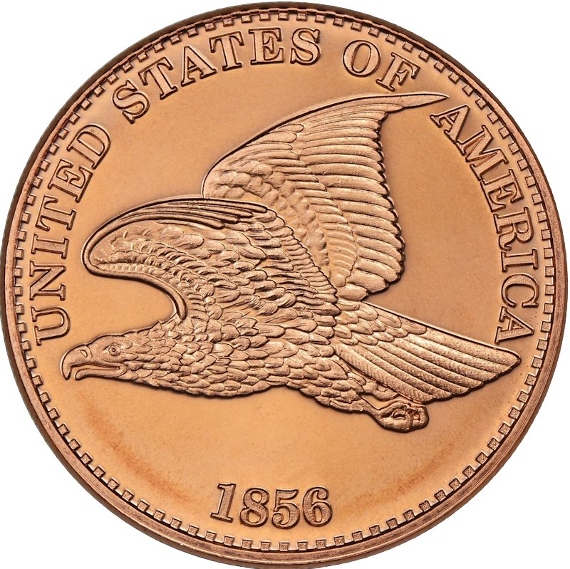 Flying Eagle 1856 Cent Design 1 oz .999 Pure Copper Round