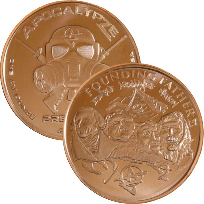 Founding Fatherz 1 oz .999 Pure Copper Round (8th Design of the ApocalypZe Series)
