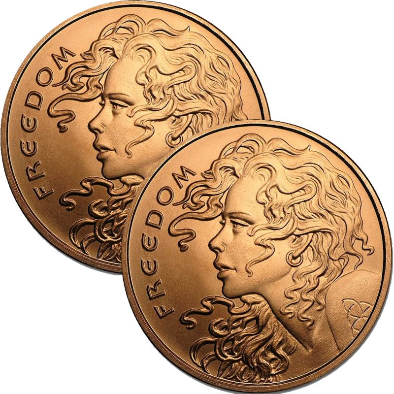 Freedom Girl (Double Sided) 1 oz .999 Pure Copper Round