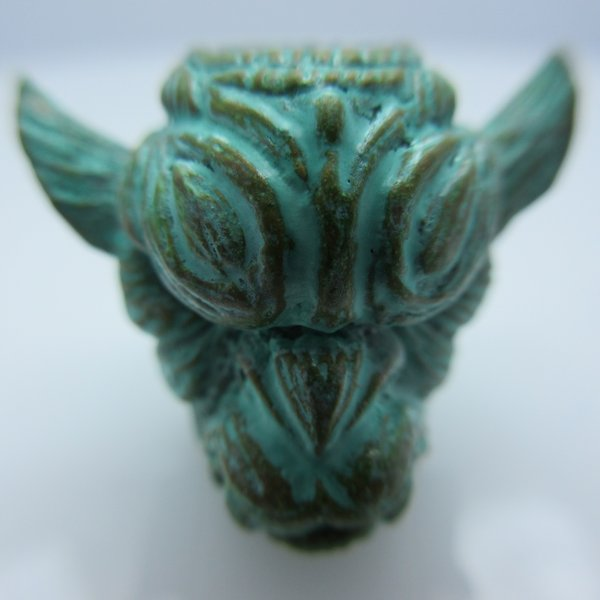 Gargoyle in Brass with Green Patina by Santi-Se