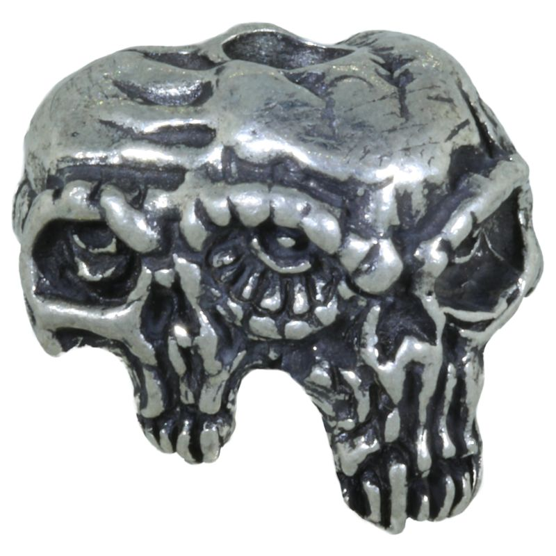 Gemini Twins Bead in Pewter by Schmuckatelli Co.