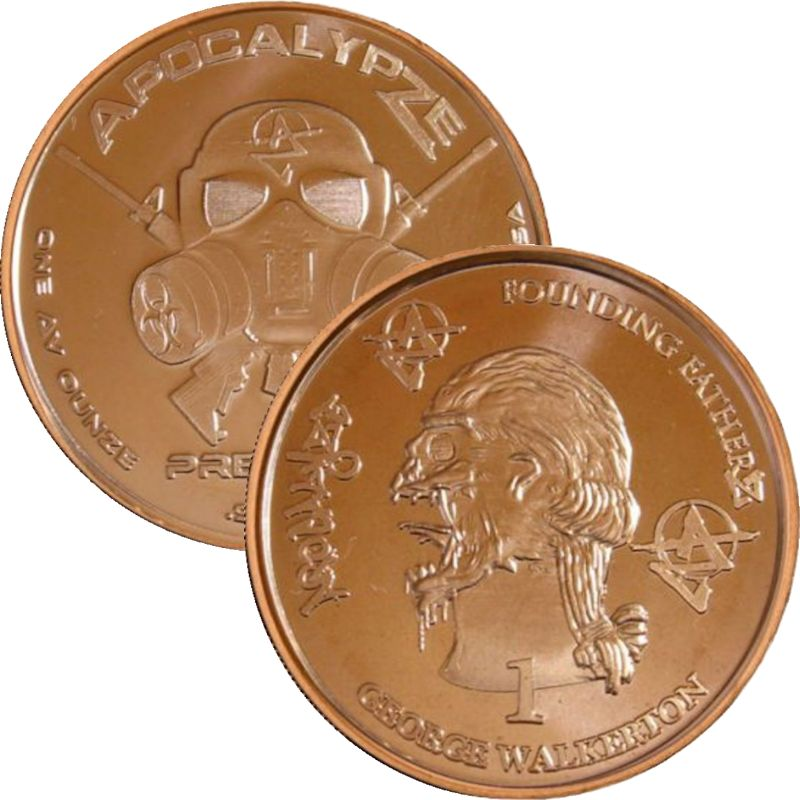 George Walkerton 1 oz .999 Pure Copper Round (10th Design of the ApocalypZe Series)