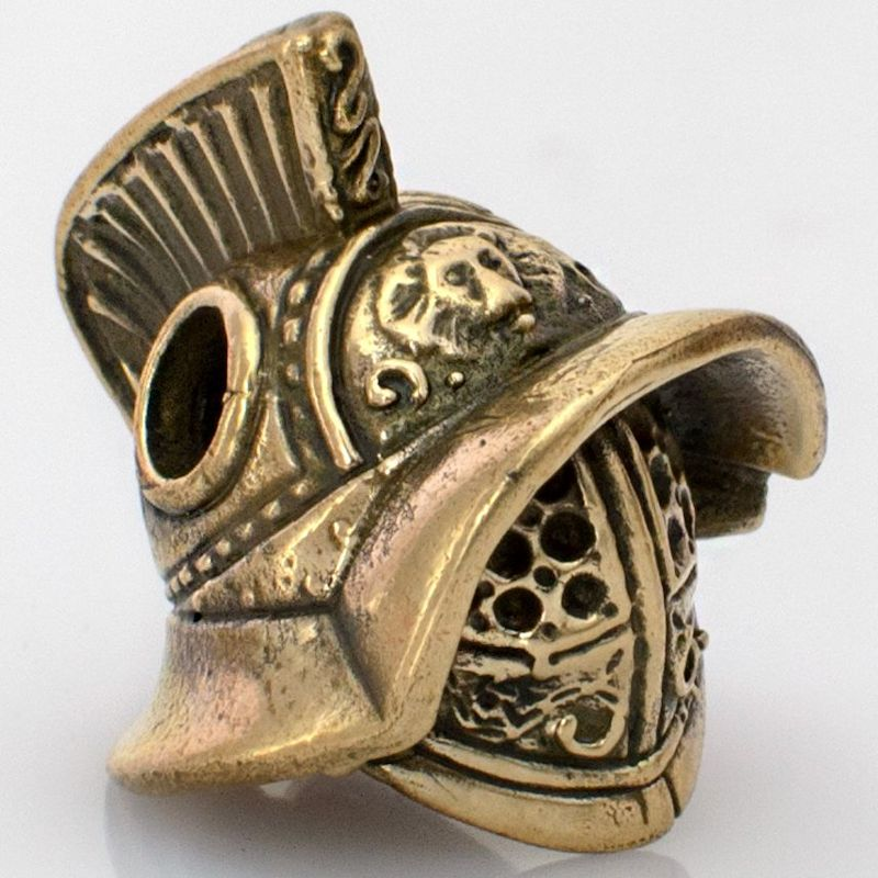 Gladiator Helmet Bead in Brass by Russki Designs