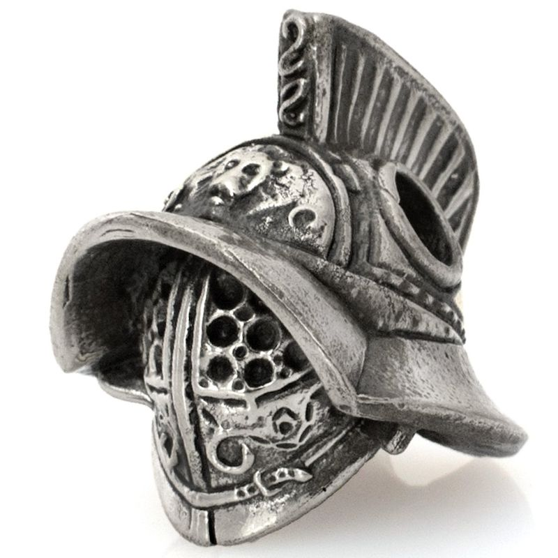 Gladiator Helmet Bead in Nickel Silver by Russki Designs