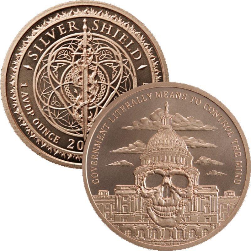 .999 Silver BU Mini Mintage Never Trust Government CoA 2018 Chief Regret