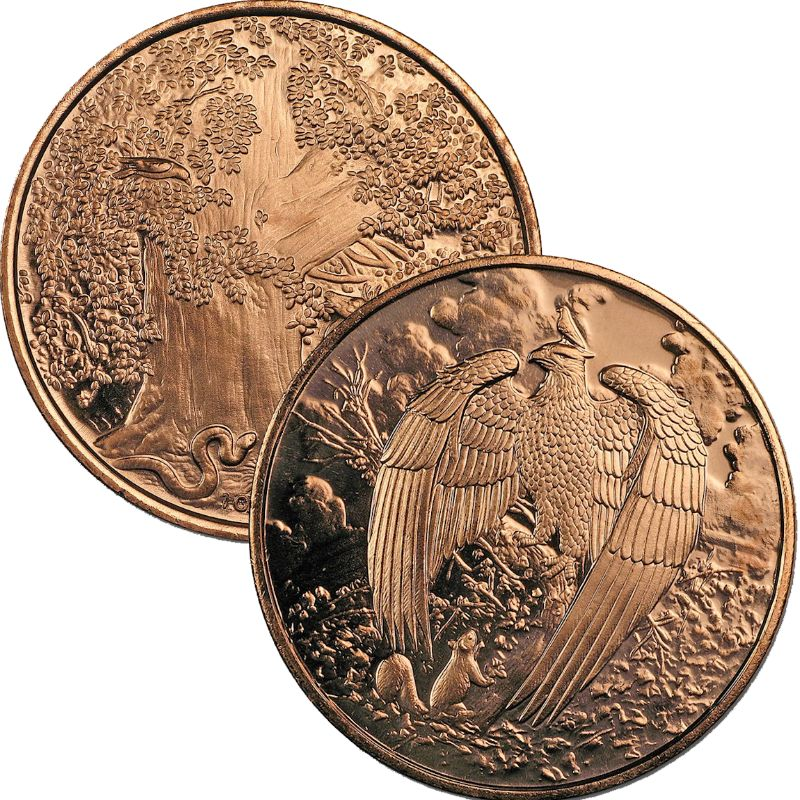 The Great Eagle 1 oz .999 Pure Copper Round (5th & Final Design of the Nordic Creatures Series)